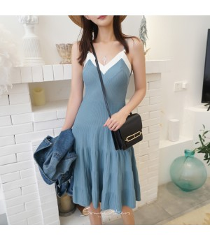 SomeOthers Knit Dress-Blue