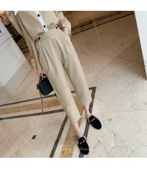 SomeOthers 19FW Leisure Trousers-Apricot