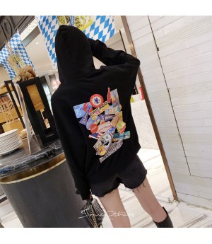 SomeOthers Patch Graffiti Hoodie-Black