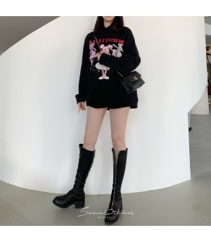 SomeOthers Ballet Piggy Hoodie-Black