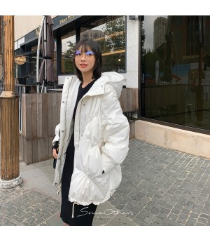 SomeOthers Sanding Cloak Goose Down Coat-White