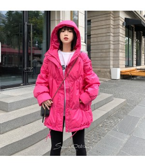 SomeOthers Sanding Cloak Goose Down Coat-Pink