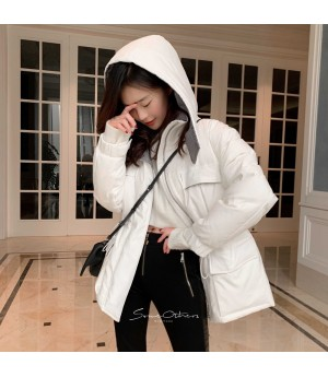 SomeOthers Slim Waist Goose Down Jacket-White