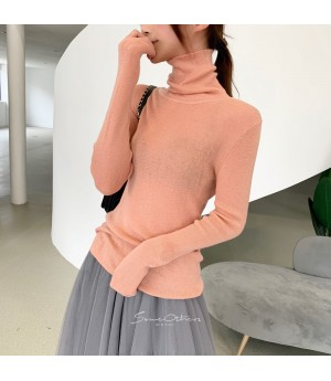 SomeOthers High Colar Base Layer Sweater-Pink