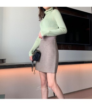 SomeOthers High Colar Base Layer Sweater-Green