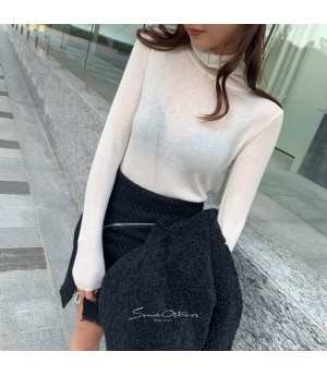 SomeOthers High Colar Base Layer Sweater-White