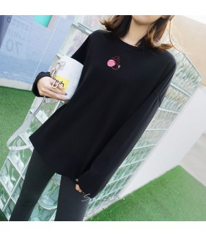 SomeOthers Velvet Cherry Shirt-Black