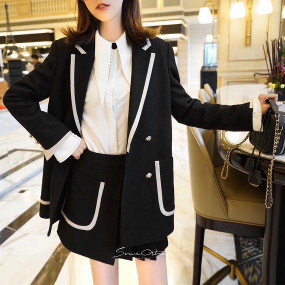 SomeOthers Black&White Suit Two-Piece