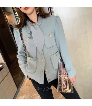 SomeOthers Chanel Style Air Blur Tie Coat