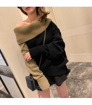 SomeOthers Off-Shoulder Mult-Color Sweater