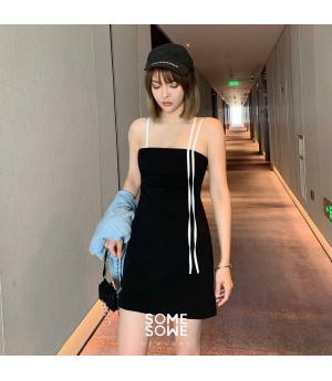 SomeOthers ''Sexy Cat'' Sling Dress-Black