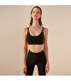 WISKII Sports Bra-Black